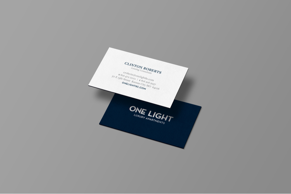 One Light Business Cards