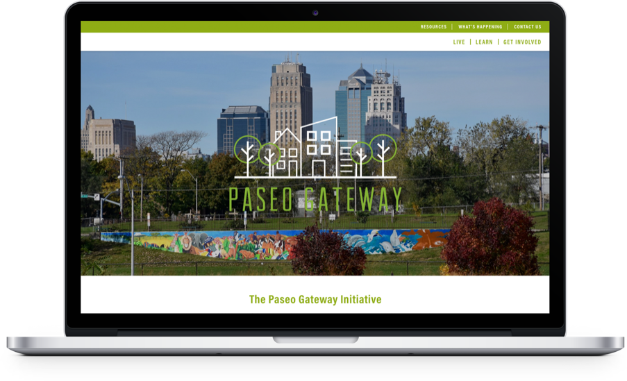 Paseo Gateway Website Laptop