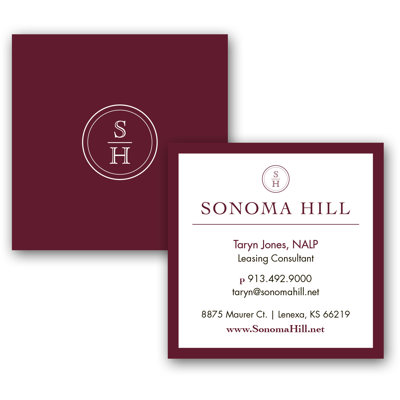 Sonoma Hill Business Cards