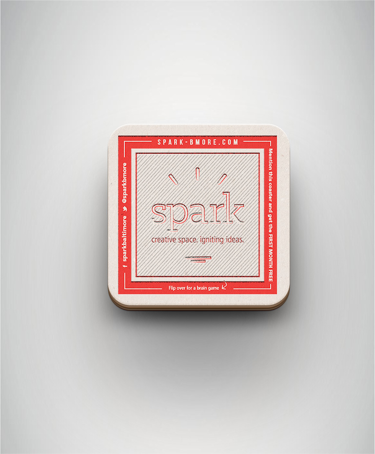 Spark Coaster Front