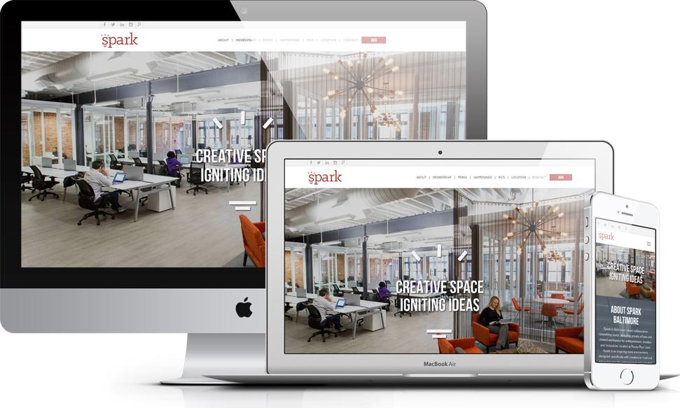Spark Co-Working Website